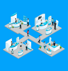 isometric expocenter concept vector image