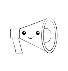 kawaii megaphone loudspeaker marketing cartoon vector image