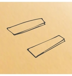 cartoon of three brown paper bags vector image