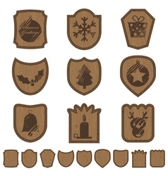 christmas plaques vector image vector image