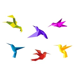 Doves and hummingbirds vector image vector image