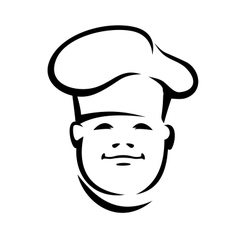 Face of a smiling chef in a toque vector image