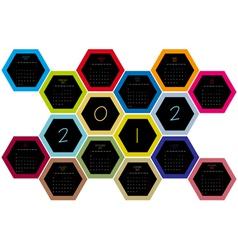 Honey comb 2012 vector