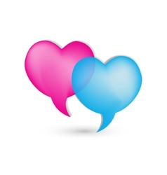 Love speech bubbles logo vector image