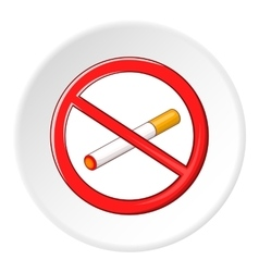 No smoking sign icon cartoon style vector image vector image