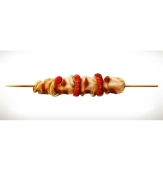 Shish kebab icon vector image