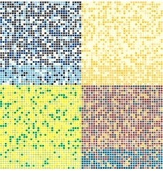 Abstract square pixel mosaic background Seamless vector image