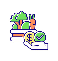 Affordable food rgb color icon vector