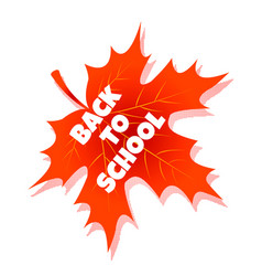 back to school education with red vector image