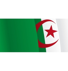 Background with waving Algerian Flag vector