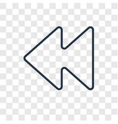 Backward concept linear icon isolated on vector