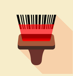 barcode reader icon flat style vector image