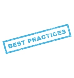Best Practices Rubber Stamp vector image