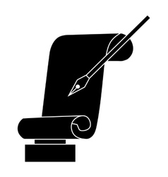 Best writer prize icon black simple style vector