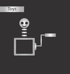 black and white style toy box vector image