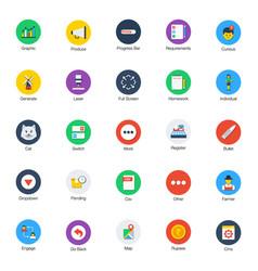 Bundle flat random icons vector
