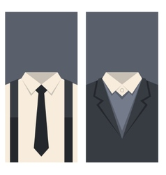 Business Card with Suits and Ties Design vector image