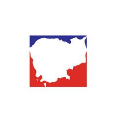Cambodia map logo icon vector