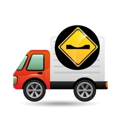 caution traffic sign concept vector image