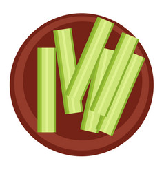 Celery or cucumber sticks healthy eating meal vector