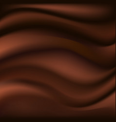 chocolate wave abstract background dark brown vector image
