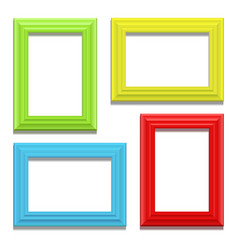 Colour classis frame set on the wall vector