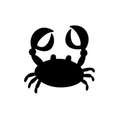 crab or cancer icon isolated on white background vector image