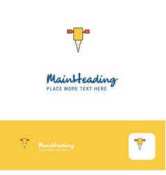 creative jack hammer logo design flat color logo vector image