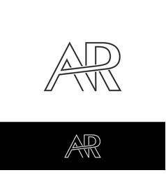 Creative letter ar logo vector