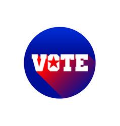 creative vote pin star graphic design vector image