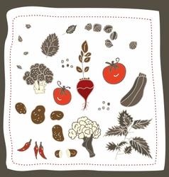 Doodle Vegetables vector