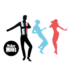 elegant silhouettes of people wearing clothes vector image