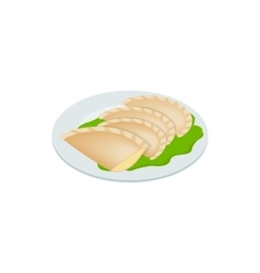 Empanada meat pie icon isometric 3d style vector