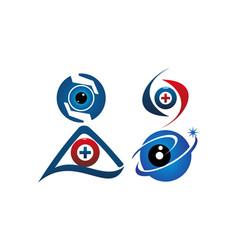 eye care template set vector image