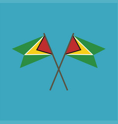 Guyana flag icon in flat design vector