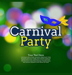 Happy brazilian carnival day creative typography vector