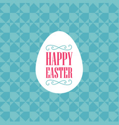 happy easter - template with egg vignettes and vector image