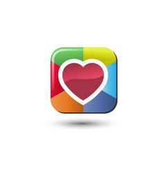 Heart heart icon love heart icon vector