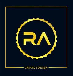 Initial letter ra logo template design vector