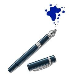 Ink pen and blot vector