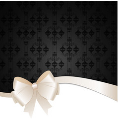 Invitation Card with Bow Ribbon and Copy Space vector image