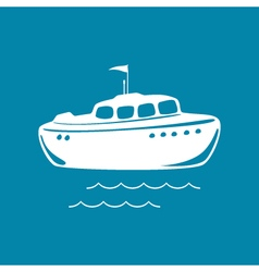 Lifeboat Isolated on Blue vector image