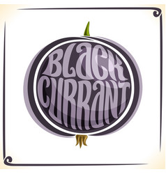 logo for blackcurrant vector image