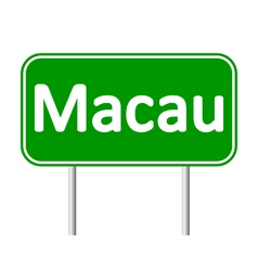 Macau road sign vector