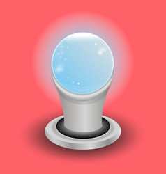 magic crystal ball of glass and lightning white vector image