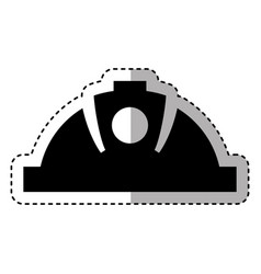 mining helmet isolated icon vector image