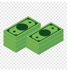 Money isometric 3d icon vector image