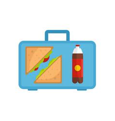 office breakfast icon flat style vector image