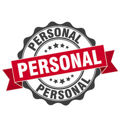 Personal stamp sign seal vector