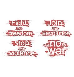 Revolution signs vector image